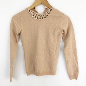 Jill Stuart Sweater Bejeweled Cashmere & Wool(J47)